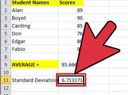 how to calculate mean and standard deviation with excel 2007
