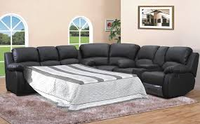 Sectional With Sofa Bed Leather Sleeper Sectional Sofa Bed Photo Sectional With Bed