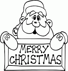 merry christmas santa coloring pages fsc russia