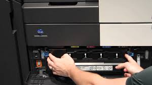 konica minolta bizhub c454 and c554 how to change the waste