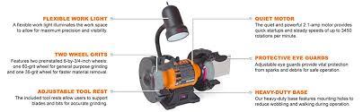 Uses Of A Bench Grinder - wen 4276 6 inch bench grinder amazon com