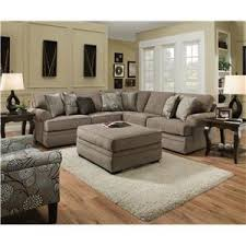 simmons upholstery 5122 transitional sectional sofa with tufted