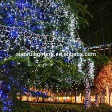 outdoor indoor solar led net lights color changing
