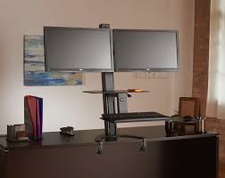 best desk for dual monitors dual monitor standing desk dual monitor adjustable standing desk