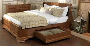 Platform Bed Designs With Storage by Wooden Sleigh Bed With Storage Modern And Unique Furniture