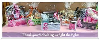 cancer gift baskets breast cancer raffle in balance physical therapy land