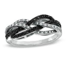 black and white engagement rings black diamonds collections zales