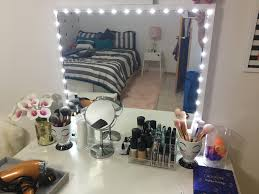 vanity mirror with lights for bedroom diy lighted vanity mirror using ikea stave mirror and lumienoodle