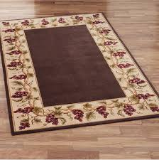 Modern Wool Area Rugs Area Rugs With Borders Brown Purple Grape Pattern Minimalist