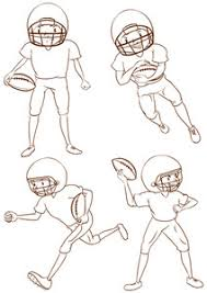 illustration of a simple coloured sketch of the american football