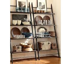 Natural Oak Leaning Shelves With Shelf Ladder Bookcase U2013 Boothify Me