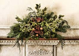 grunge vintage victorian christmas floral arrangement decoration