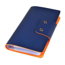Business Card Credit Blue Leatherette Business Card Credit Card Organizer Holder Book