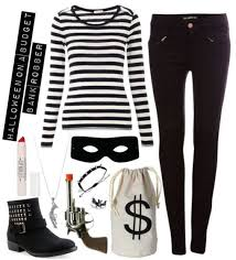 Black White Striped Halloween Costume 25 Burglar Costume Ideas Easy Costumes Bank
