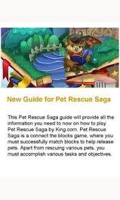 pet rescue saga apk new guide for pet rescue saga for android apk