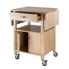 Amazoncom Winsome Wood DropLeaf Kitchen Cart Bar  Serving Carts - Kitchen cart table