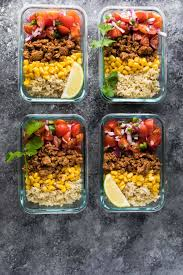 food prep meals turkey taco lunch bowls meal prep sweet peas and saffron