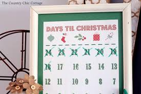 christmas calendar printable christmas countdown calendar the country chic cottage