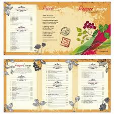 indian restaurant menu template designs exclusive menu 807
