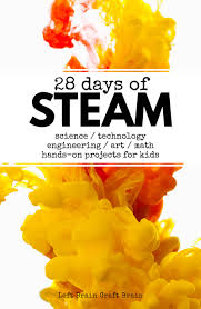 28 days of steam projects for kids left brain craft brain