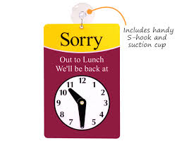 on break sign for desk clock signs will return signs