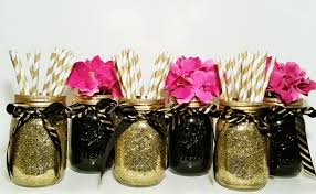black and gold centerpieces graduation party decorations wedding centerpiece jar