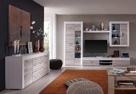 Wohnzimmer Vitrine Dekorieren Wohnwand Wohnzimmer Set Eiche Sand Pinie Weiß Schrankwand Boom