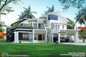 contemporary style kerala home design curved roof house plans modern how to build curve design