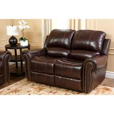 Leather Reclining Chairs Abbyson Lexington Dark Burgundy Italian Leather Reclining Loveseat