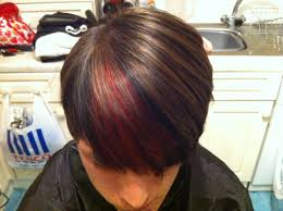 white hair with black lowlights hair colour make over red and black lowlights and slices youtube