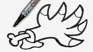 how to draw a cartoon halloween monster claw easy doodle for