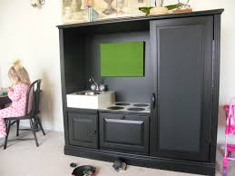 Play Kitchen From Old Furniture by Enchanting Espresso Wooden Cabinet With Single Sink As Dining Room
