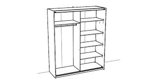 Schlafzimmerschrank Schwebet Enschrank Slidy Schrank In Weiß Mit Spiegel 169