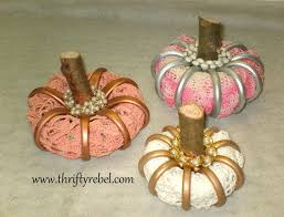 how to make pumpkins from shower curtain rings hometalk