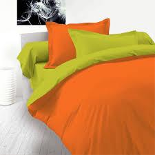 green u0026 orange 100 cotton reversible bed linen set duvet cover
