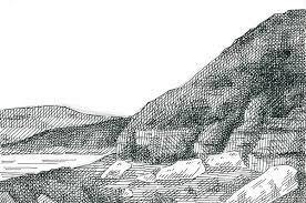 how to crosshatch a landscape from a photograph
