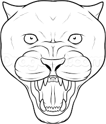 how to draw a panther face black panther tattoo step by step