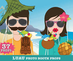 printable photo booth props summer hawaiian luau photo booth props luau props tropical wedding