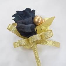 gold boutonniere boutonnieres b31 black gold endura flora