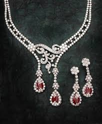 diamond ruby necklace sets images Diamond ruby gemstone necklace 12 65ct diamond gold engagement jpg&a