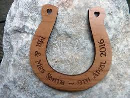 wooden wedding gifts personalised wood wedding horseshoe wooden engraved traditional
