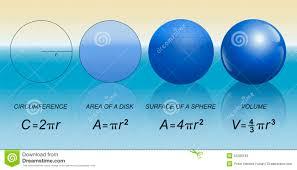 circle sphere mathematical formula stock vector image 50286183