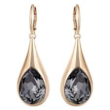 gold earrings uk swarovski drop gold black earrings 5142067