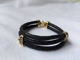 gold clasp leather bracelet images 2015 luxury gift items latest black 5mm men leather bracelet real jpg