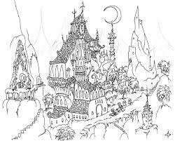 coloring pages engaging halloween coloring pages hard mansion
