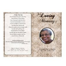 memorial program wording floral designs single fold memorial program funeral phlets