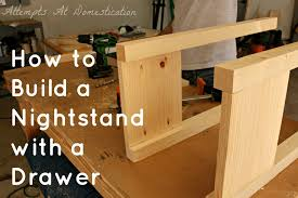 Woodworking Plans For Small Tables by Hand Built Nightstand With Drawer