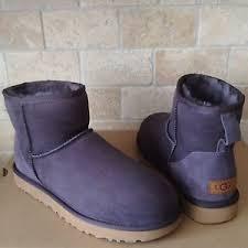 womens sheepskin boots size 11 ugg mini ii nightfall water resist suede sheepskin boots