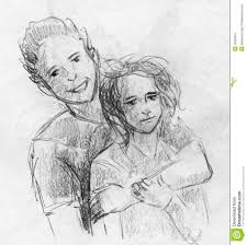 pencil sketch of a and boy hugging cute love drawings pencil