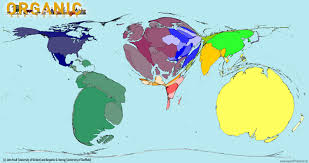 World Map Showing Netherlands by A World Map Of Organic Agriculture Note Australia Which Appears